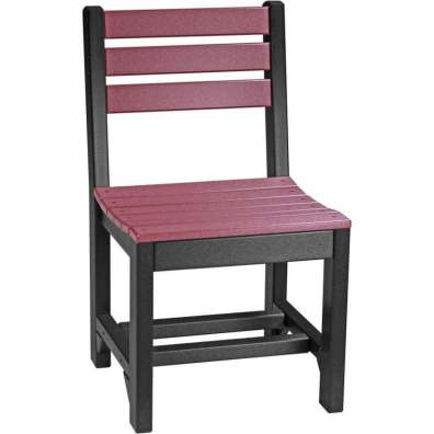 LuxCraft Poly Island Side Chair (Dining Height) Cherrywood & Black