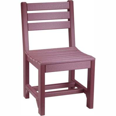 LuxCraft Poly Island Side Chair (Dining Height) Cherrywood