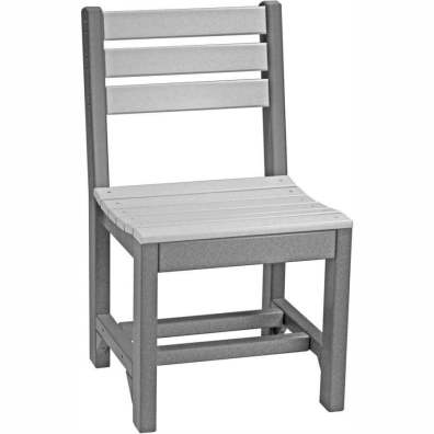 LuxCraft Poly Island Side Chair (Dining Height) Dove Gray & Slate