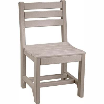 LuxCraft Poly Island Side Chair (Dining Height) Weatherwood