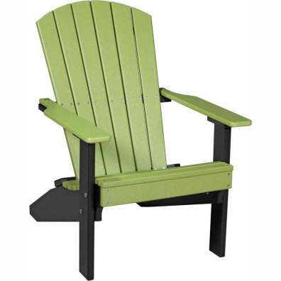 LuxCraft Poly Lakeside Adirondack Chair Lime Green & Black