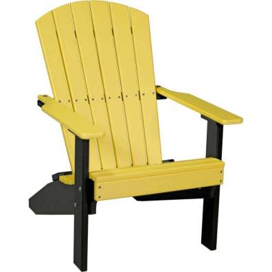 LuxCraft Poly Lakeside Adirondack Chair Yellow & Black