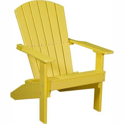 LuxCraft Poly Lakeside Adirondack Chair Yellow