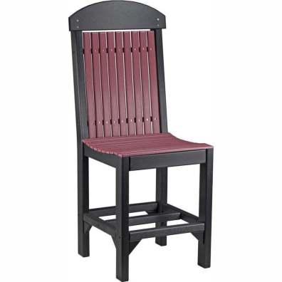 LuxCraft Poly Regular Chair (Counter Height) Cherrywood & Black
