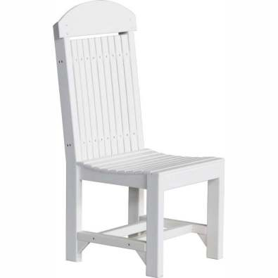LuxCraft Poly Regular Chair Dining White
