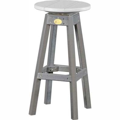 LuxCraft Poly Swivel Bar Stool Dove Gray & Slate