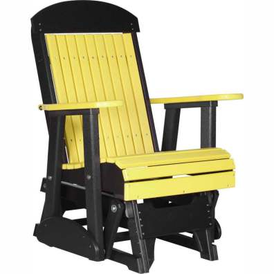 LuxCraft Poly 2' Classic Glider Yellow & Black