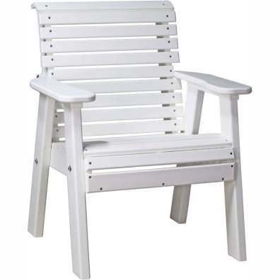 LuxCraft Poly 2' Plain Bench White