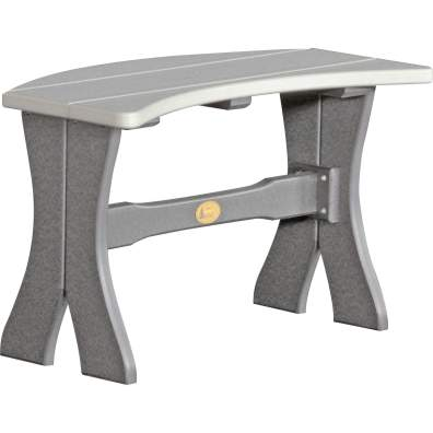LuxCraft Poly 28'' Table Bench Dove Gray & Slate