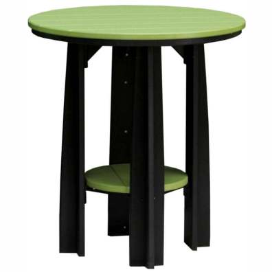 """LuxCraft Poly 36"""" Balcony Table Lime Green & Black"""