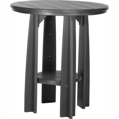 "LuxCraft Poly 36"" Balcony Table Black"