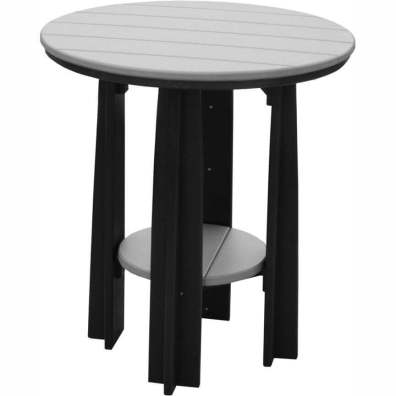 "LuxCraft Poly 36"" Balcony Table Dove Gray & Black"