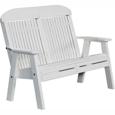 LuxCraft Poly 4' Classic Bench White
