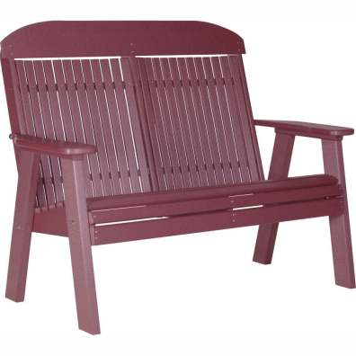 LuxCraft Poly 4' Classic Bench Cherrywood