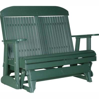 LuxCraft Poly 4' Classic Glider Green