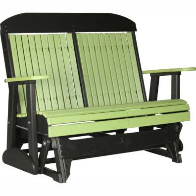 LuxCraft Poly 4' Classic Glider Lime Green & Black
