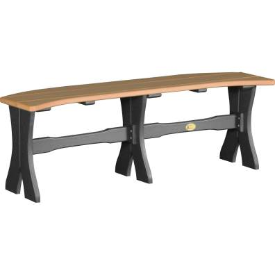 LuxCraft Poly 52'' Table Bench Cedar & Black