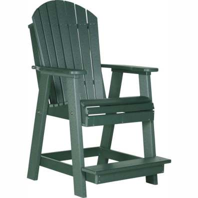 LuxCraft Poly Adirondack Balcony Chair Green