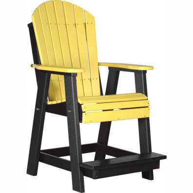 LuxCraft Poly Adirondack Balcony Chair Yellow & Black