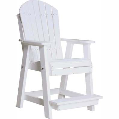 LuxCraft Poly Adirondack Balcony Chair White