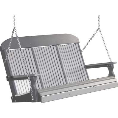 LuxCraft Poly 5' Classic Swing Dove Gray & Slate