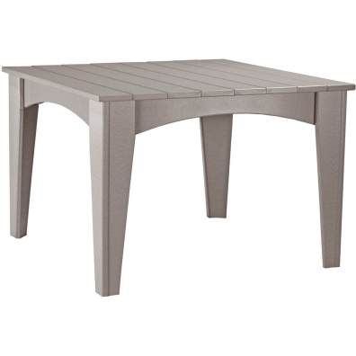 LuxCraft Poly Island Dining Table Weatherwood