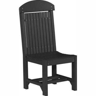 LuxCraft Poly Regular Chair Dining Height Black