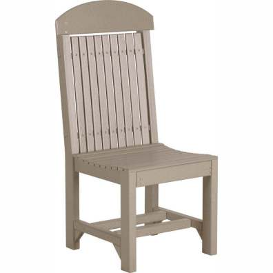 LuxCraft Poly Regular Chair Dining Height Weatherwood