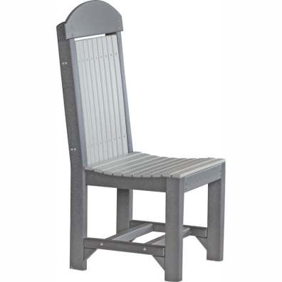 LuxCraft Poly Regular Chair Dining Height Dove Gray & Black