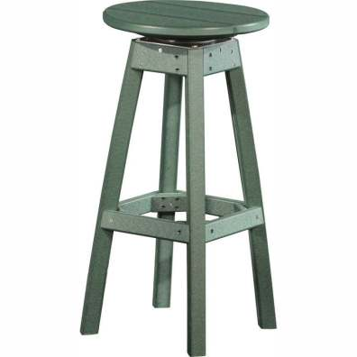 LuxCraft Poly Swivel Bar Stool Green