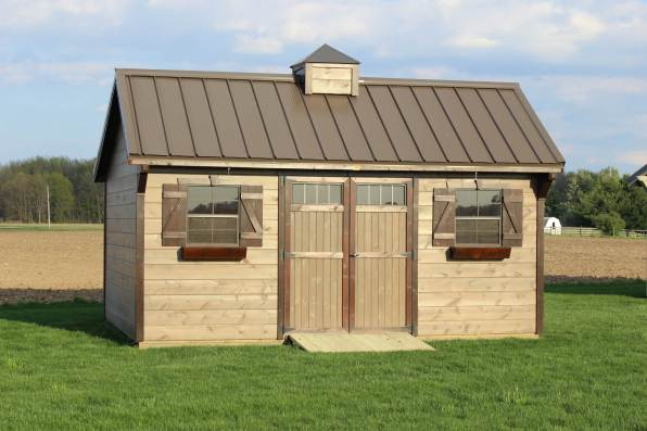The Carriage House with Pine Siding