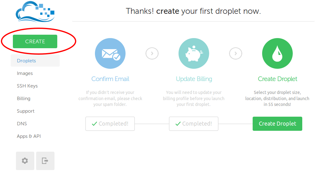 How to create a Blog on DigitalOcean in a minutes