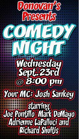 Comedy Night SEPT 23RD 2015