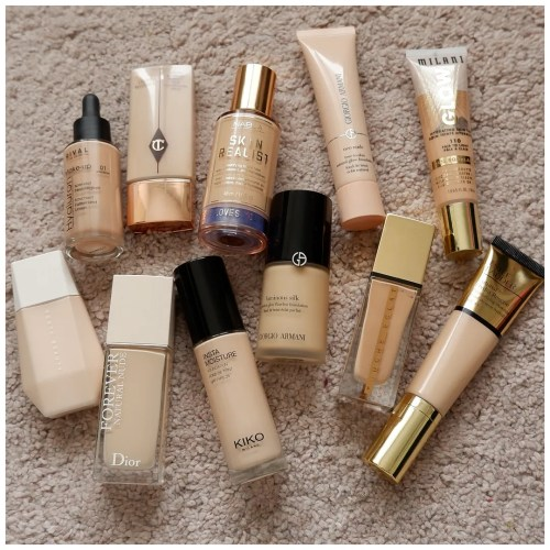 10 new in foundations help me decide what to try next foundation review  high end luxury swatch drugstore skin tint