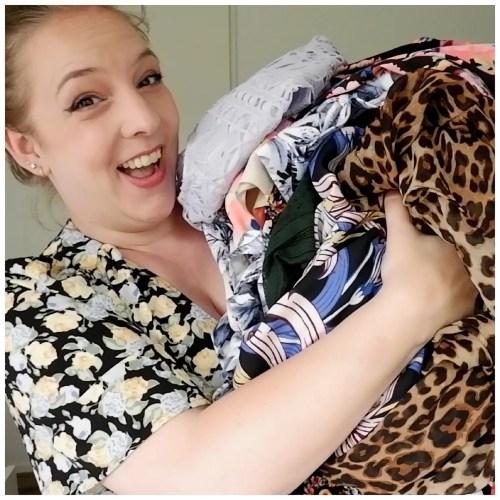 wardrobe tour declutter dresses