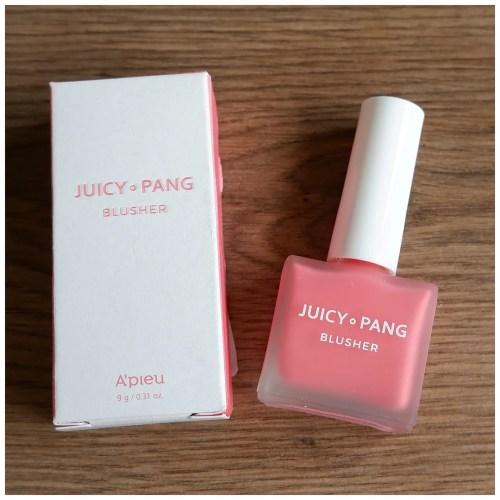apieu juicy pang juicy-pang a'pieu k-beauty makeup review swatch liquid blush makeup look application fair skin dry skin sensitive skin
