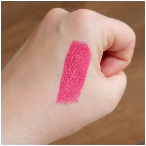 catrice demi matt lipstick 120 pink addiction review swatch makeup look application fair skin