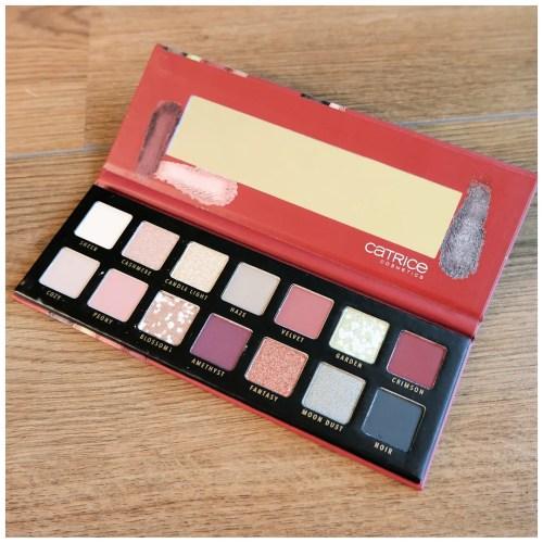 catrice pro slim eyeshadow palette vintage soul review swatch makeup look 2 looks 1 palette fair skin drugstore