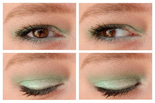 Colourpop Mint To Be eyeshadow palette review swatch makeup look application fair skin