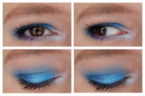 colourpop blue moon eyeshadow palette review swatch makeup look fair skin application