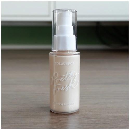 colourpop pretty fresh hydrating illuminator primer review swatch soft ivory fair skin dry skin makeup look application