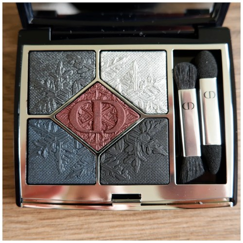 dior golden nights holiday 2020 limited edition 089 black night collection eyeshadow palette review swatch makeup look