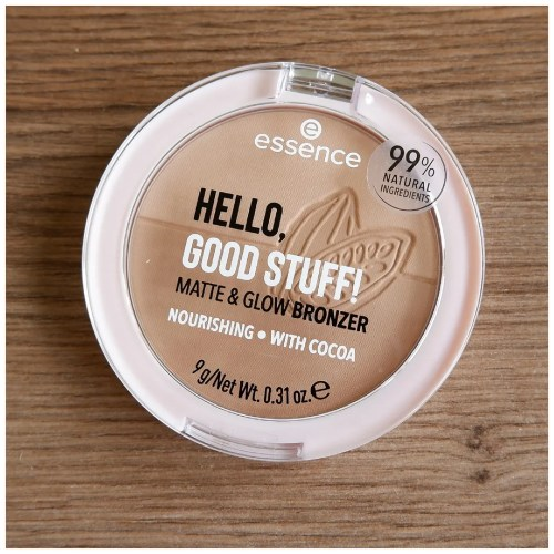 essence hello good stuff matte & glow bronzer review swatch 10 cocoa-cool fair skin dry skin