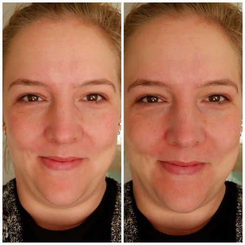 Essence Prime + Studio Hydrating Skin Refreshing face primer review swatch makeup application look dry skin fair skin