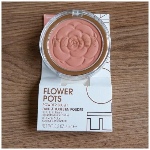 flower beauty flower pot blush spiced petal review swatch makeup look application fair skin