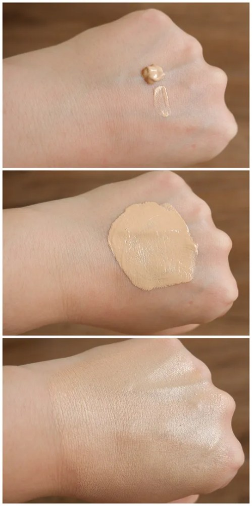 flower beauty light illusion foundation review swatch fair skin dry skin makeup look application porcelain l1