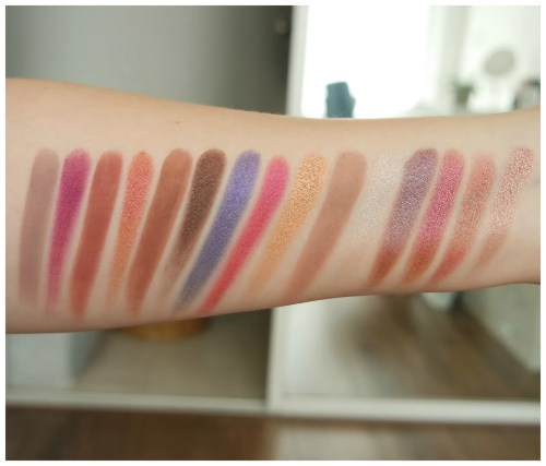 Natascha Denona Lila eyeshadow palette review swatch makeup look 3 looks 1 palette fair skin