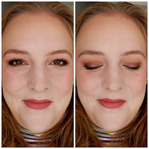 pat mcgrath labs blitz astral quad ritualistic rose eyeshadow palette review swatch makeup look application