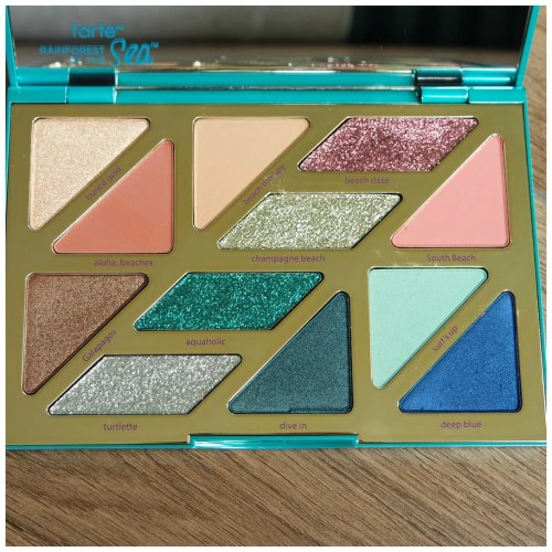 tarte high tides and good vibes eyeshadow palette review swatch 3 looks 1 palette makeup look