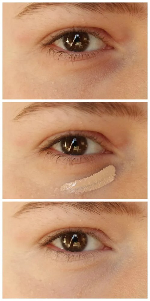 too faced born this way naturally radiant concealer review swatch makeup look application fair skin